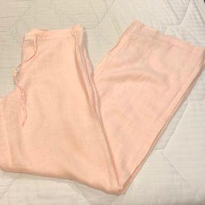 Summer Linen Pink Zara Woman Pants Sz M